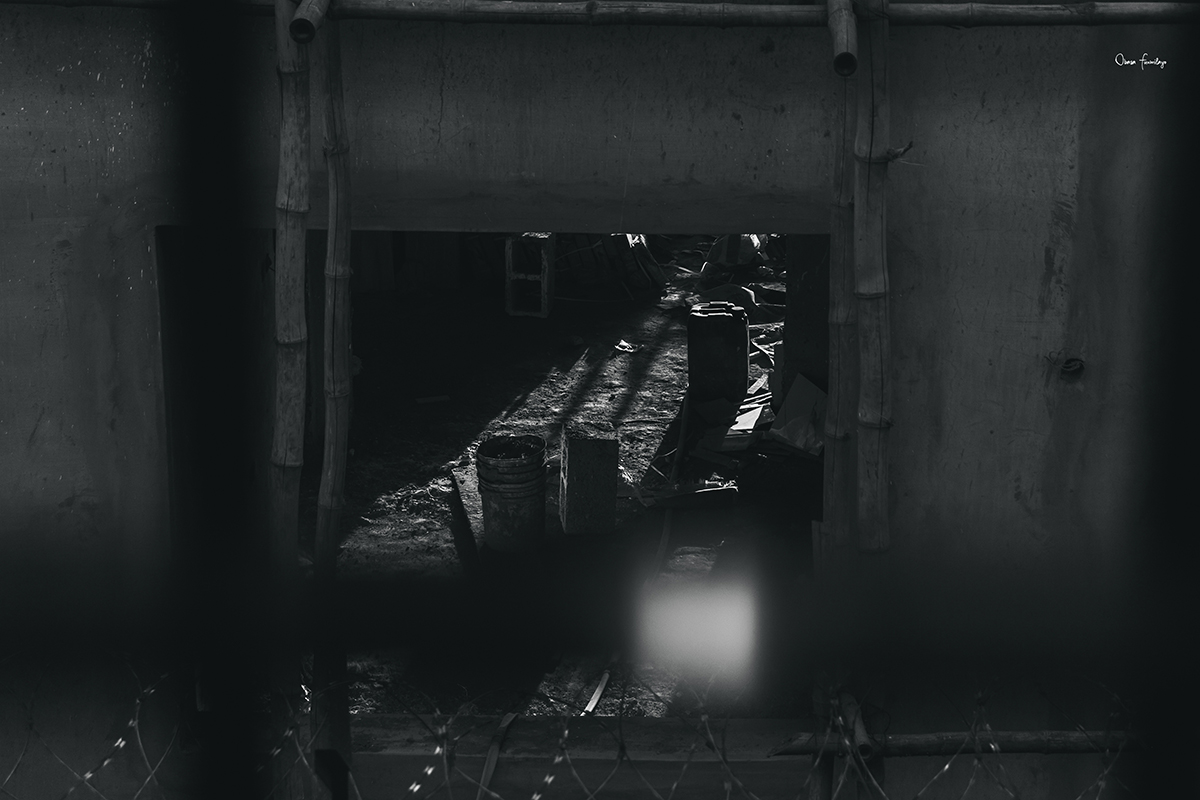 Image of a section of a building still in construction. it looks desolate and lonely