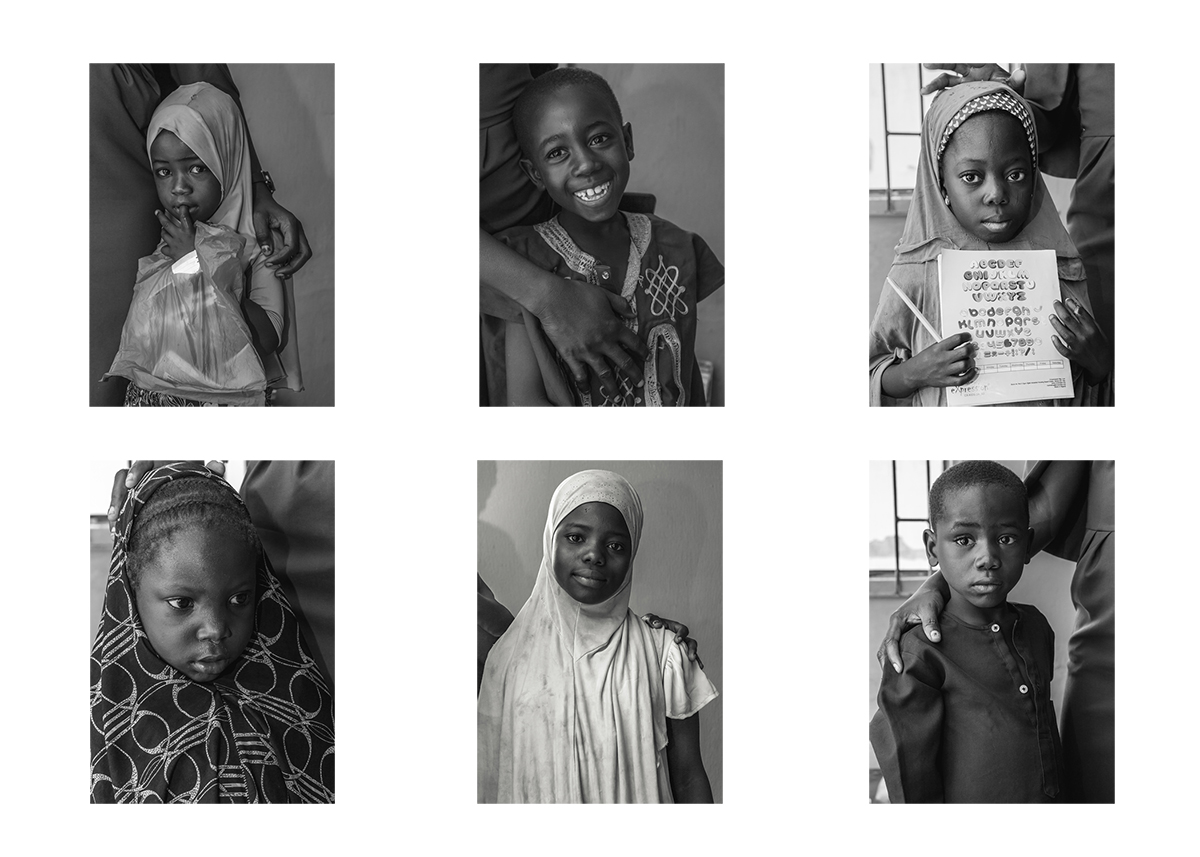 a grid of six children from the Oasis Academy, placed side by side.